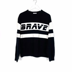 Black and White Brave Sweater